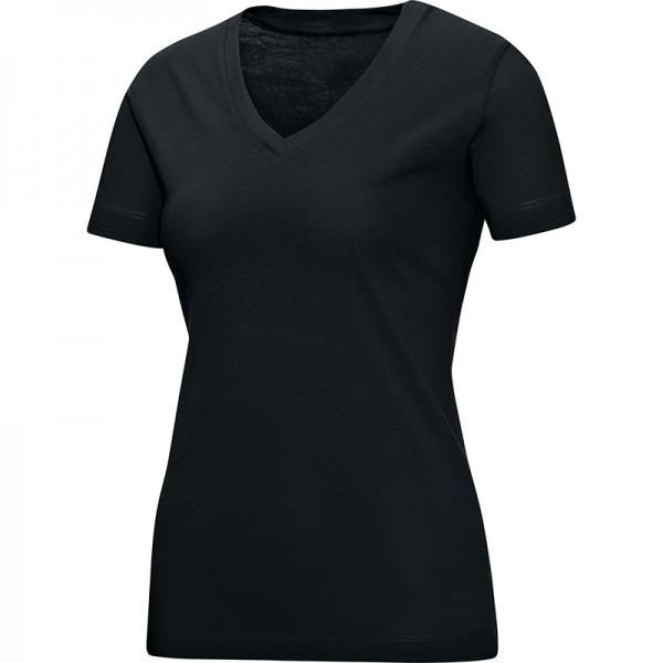 Jako T-Shirt V-Neck Damen schwarz 6113-08