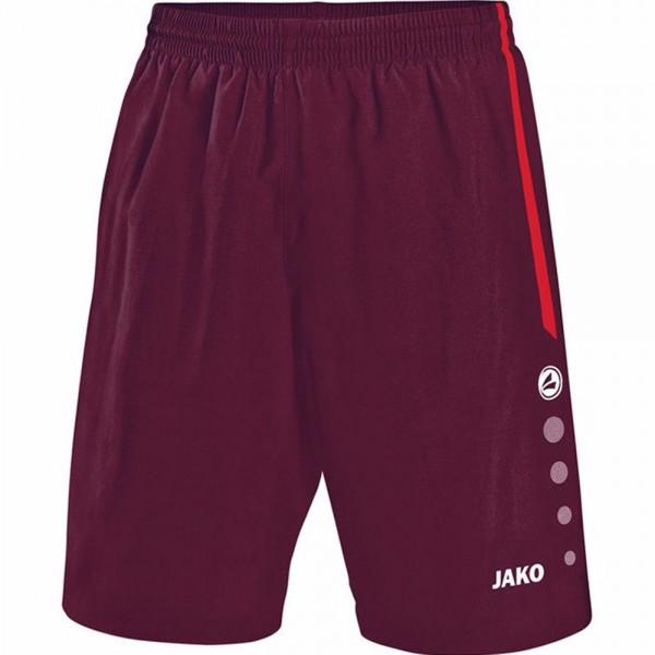 Jako Sporthose Turin ohne Innenslip Kinder maroon/rot