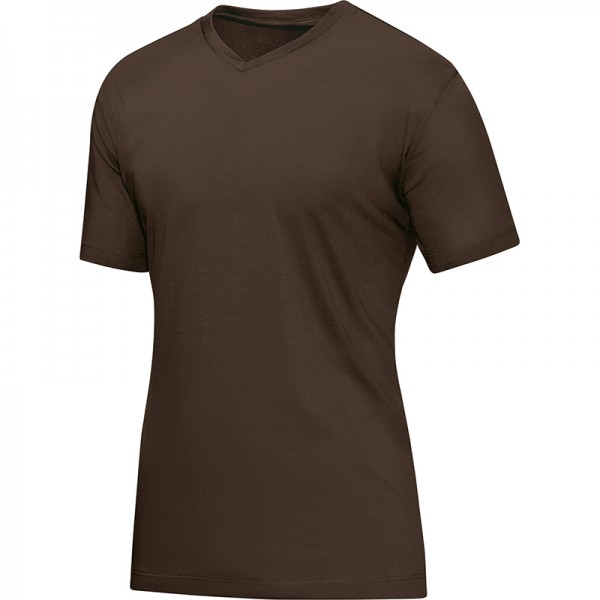 Jako T-Shirt V-Neck Herren coffee