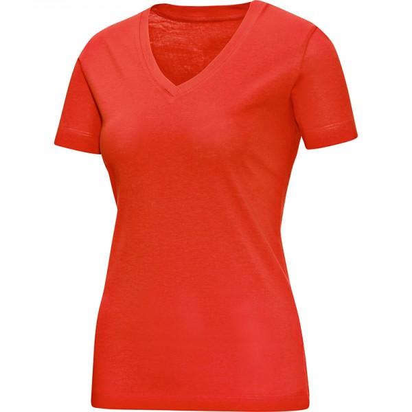Jako T-Shirt V-Neck Damen flame 6113-18