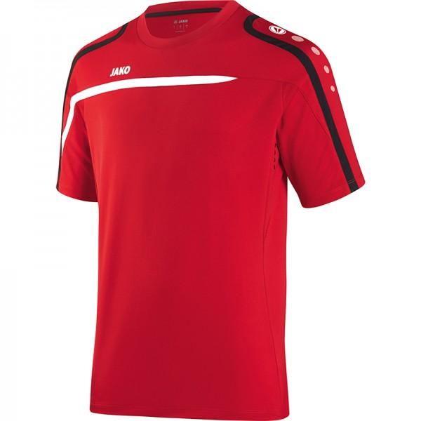 Jako T-Shirt Performance Herren rot/weiß/schwarz