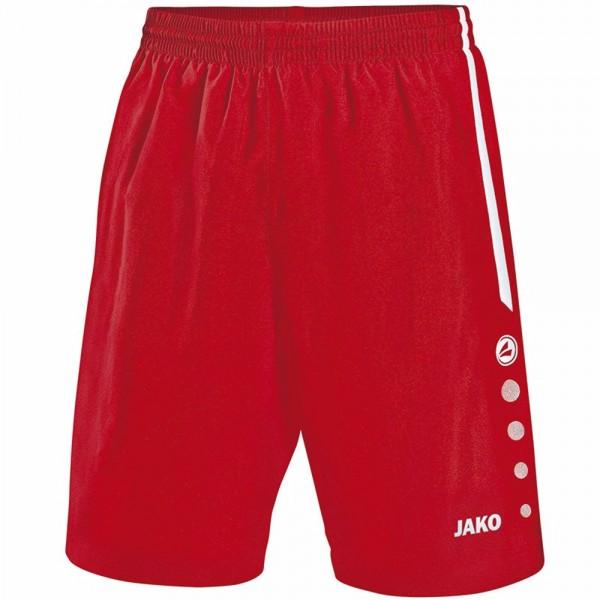 Jako Sporthose Turin ohne Innenslip Herren rot/weiß 4462-01