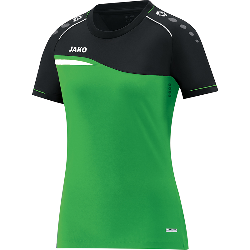f1ab2bbaf3f995 Jako T-Shirt Competition 2.0 Damen soft green/schwarz   T-Shirts   Damen    Sportstromshop