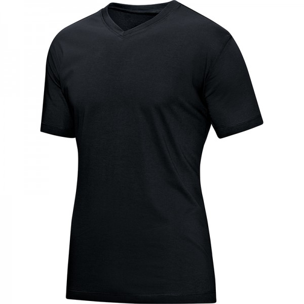 Jako T-Shirt V-Neck Herren schwarz 6113-08