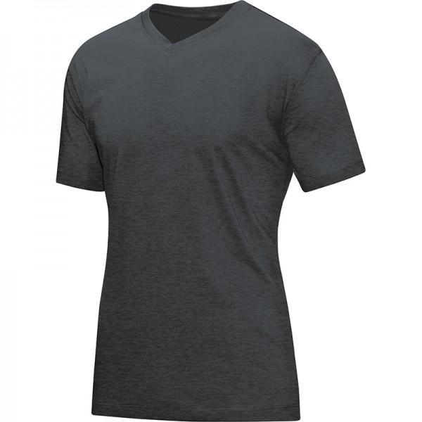Jako T-Shirt V-Neck Herren anthrazit meliert 6113-41