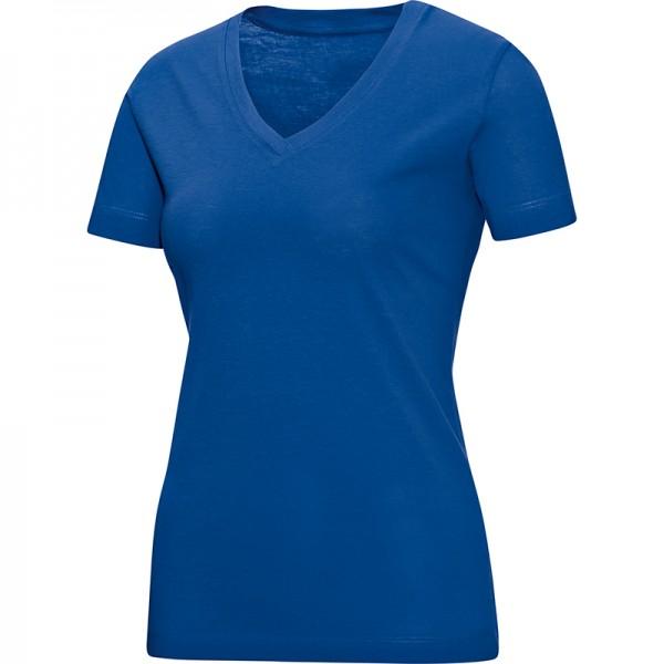 Jako T-Shirt V-Neck Damen royal 6113-04