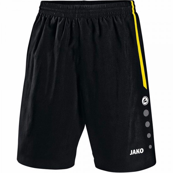 Jako Sporthose Turin ohne Innenslip Herren schwarz/citro 4462-03