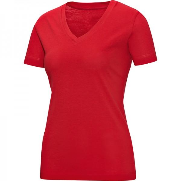 Jako T-Shirt V-Neck Damen rot 6113-01